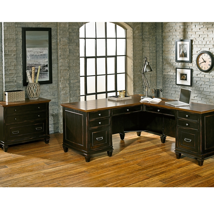 rustic office l desk