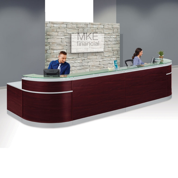 u shaped reception desk