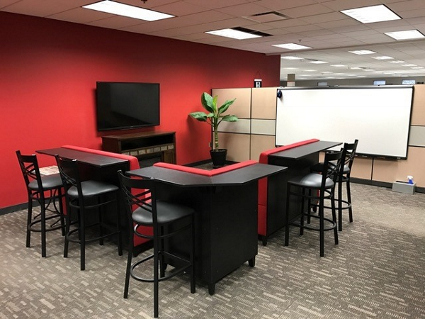 red breakroom