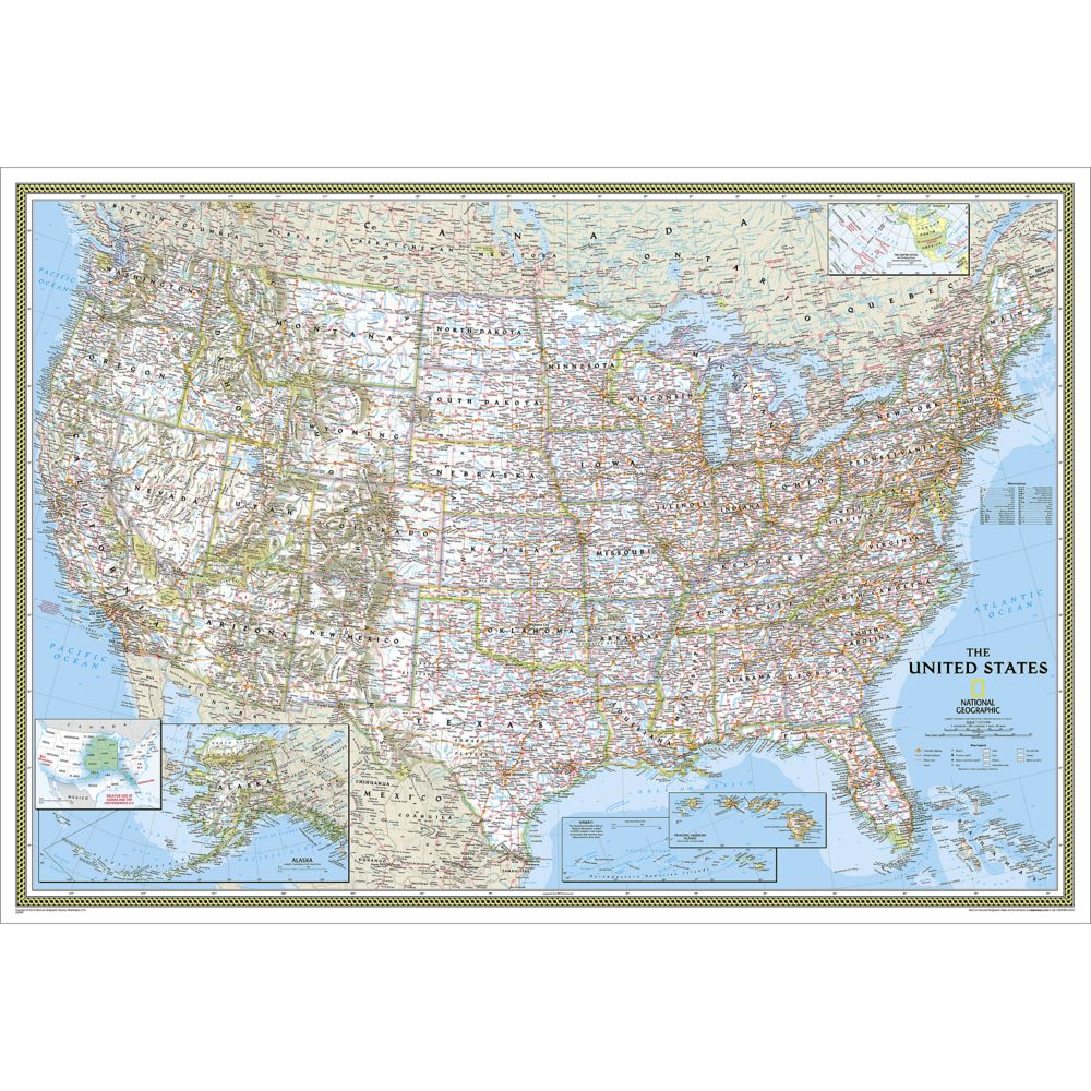 Map usa laminated teacheng map gumiabroncs Gallery