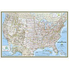 United States Classic Wall Map, Enlarged and Laminated