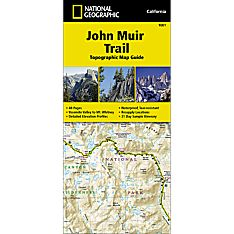 1001 John Muir Trail Topographic Map Guide Trail Map