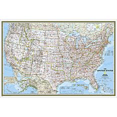 United States Classic Wall Map, Poster Size