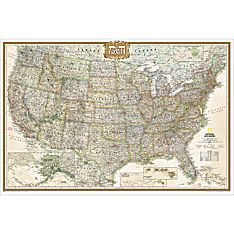 United States Executive Wall Map, Poster Size