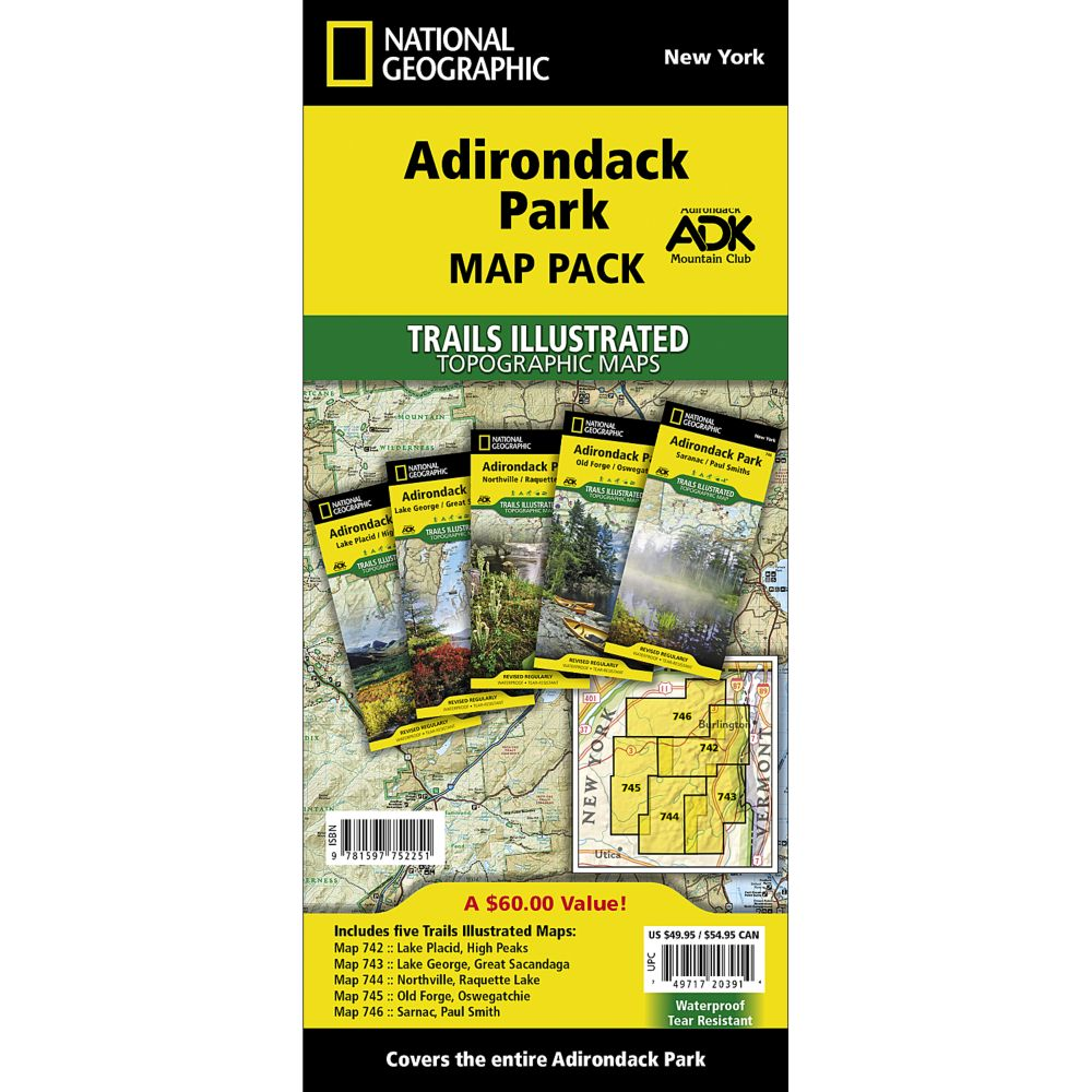 Adriondack Park Trail Maps (Map Pack Bundle)