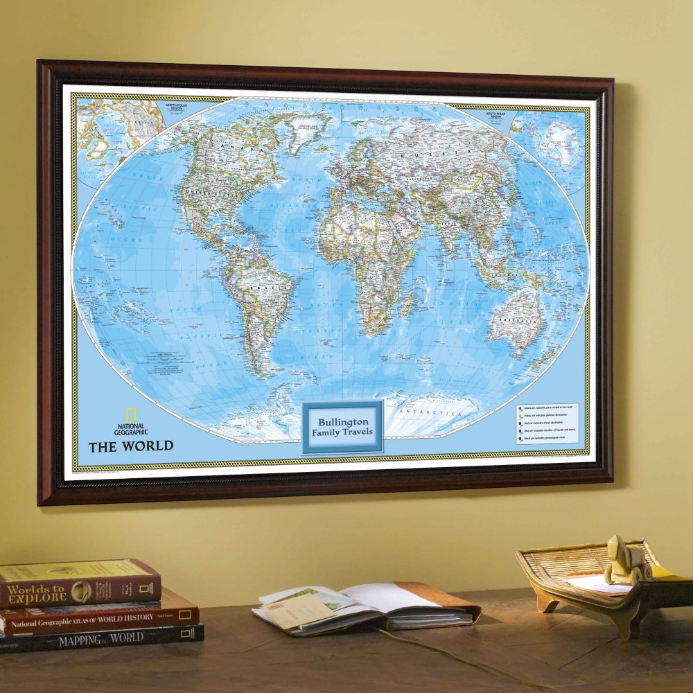 National Geographic My US Personalized Map Earthtoned
