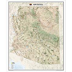 Arizona Wall Map, Laminated