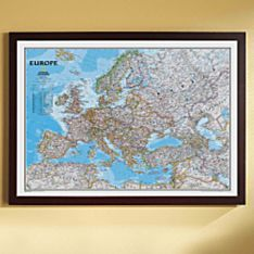 Europe Political Map (Classic), Framed