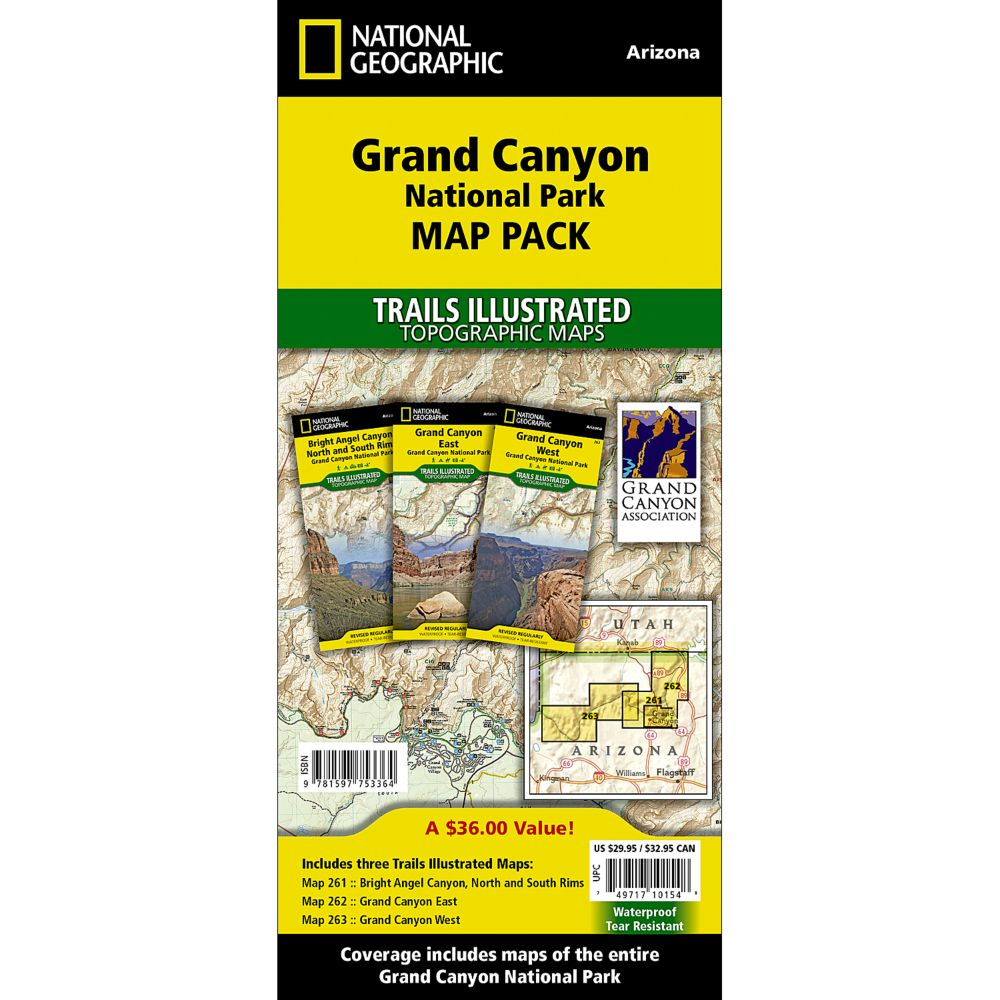 Grand Canyon National Park Trail Maps (Map Pack Bundle)