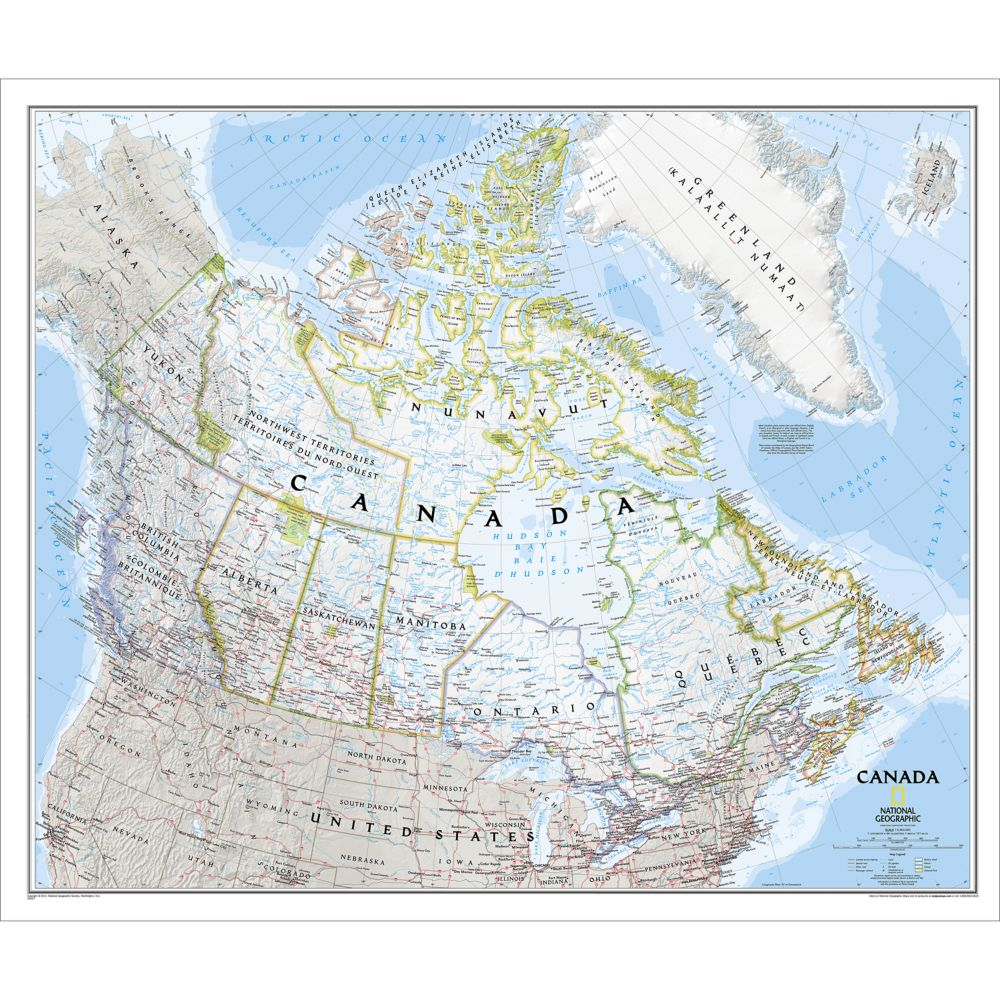 Canada Classic Wall Map, Laminated