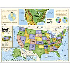 Kids Beginners USA Education: Grades K-3 Wall Map, Laminated