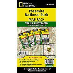 Yosemite National Park Trail Maps (Map Pack Bundle)