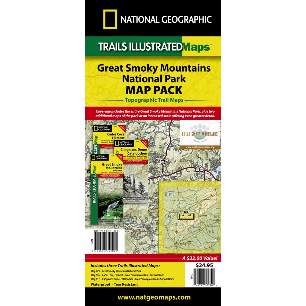 Great Smoky Mountains National Park Map Pack