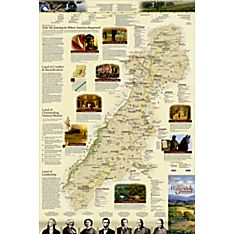 Journey Through Hallowed Ground: 2-sided Wall Map, Folded