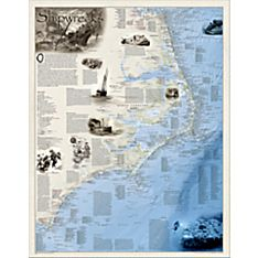 Shipwrecks of the Outer Banks Map, Laminated
