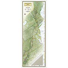 Appalachian Trail Wall Map, Boxed