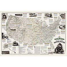 Railroad Legacy of the United States Wall Map