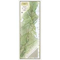 Appalachian Trail Wall Map, Laminated