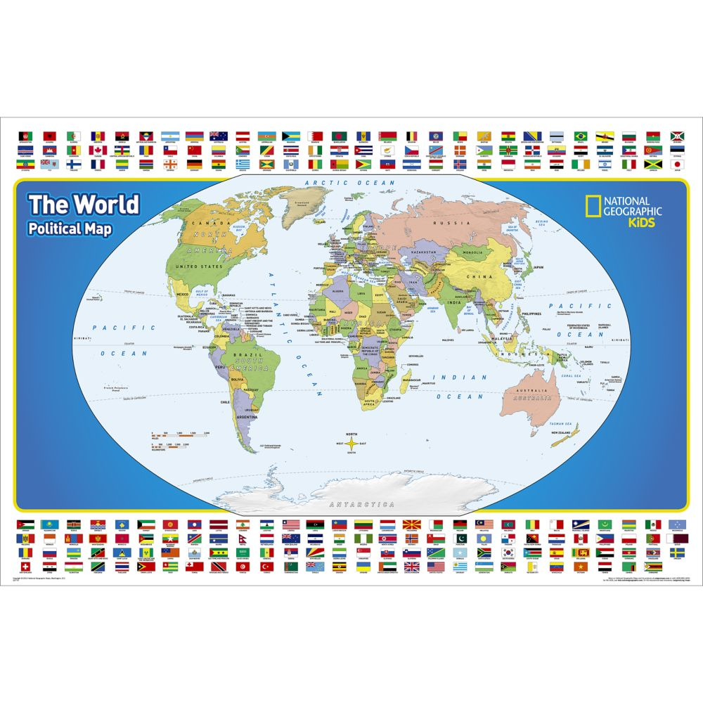 The United States For Kids Wall Map National Geographic Store - World us map