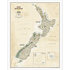 New Zealand Executive Wall Map