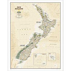 New Zealand Executive Wall Map, Laminated
