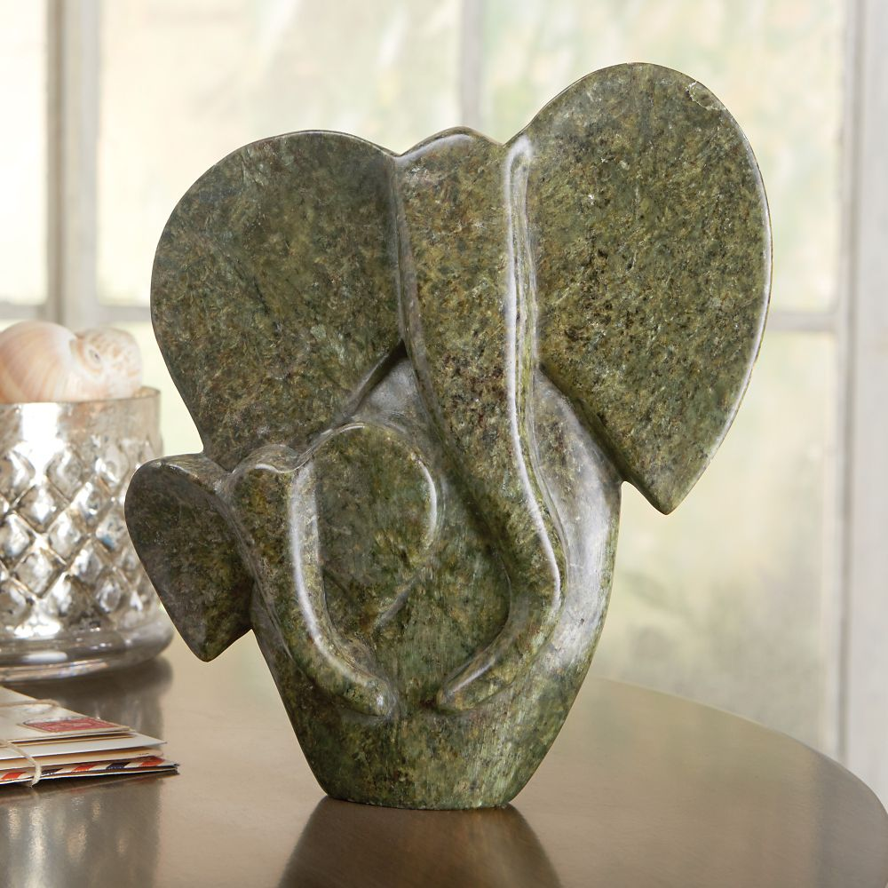 African shona elephant sculpture national geographic store Home decor sculptures
