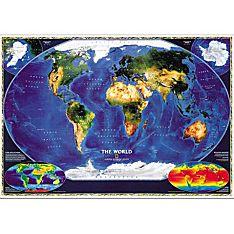 World Satellite Map, Mounted