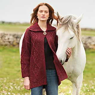 Irish Sweater Jacket - Gray Cardigan Sweater