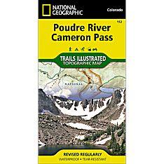 112 Poudre River, Cameron Pass Trail Map