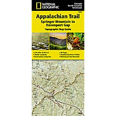 1501 Appalachian Trail, Springer Mountain to Davenport Gap (Georgia, North Carolina, Tennessee) Trail Map