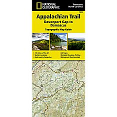 1502 Appalachian Trail, Davenport Gap to Damascus (North Carolina, Tennessee) Trail Map