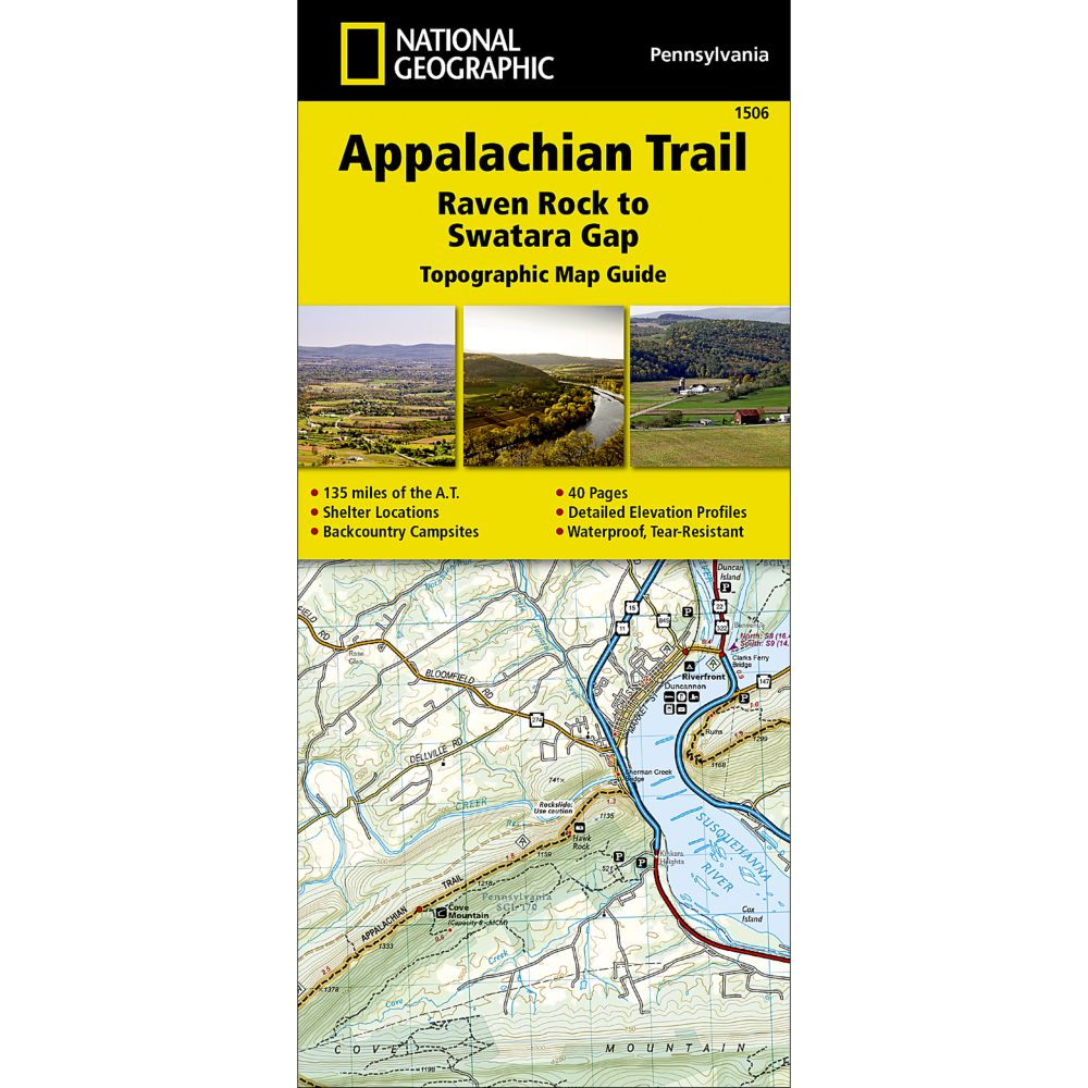 1506 Appalachian Trail, Raven Rock to Swatara Gap (Pennsylvania) Trail Map