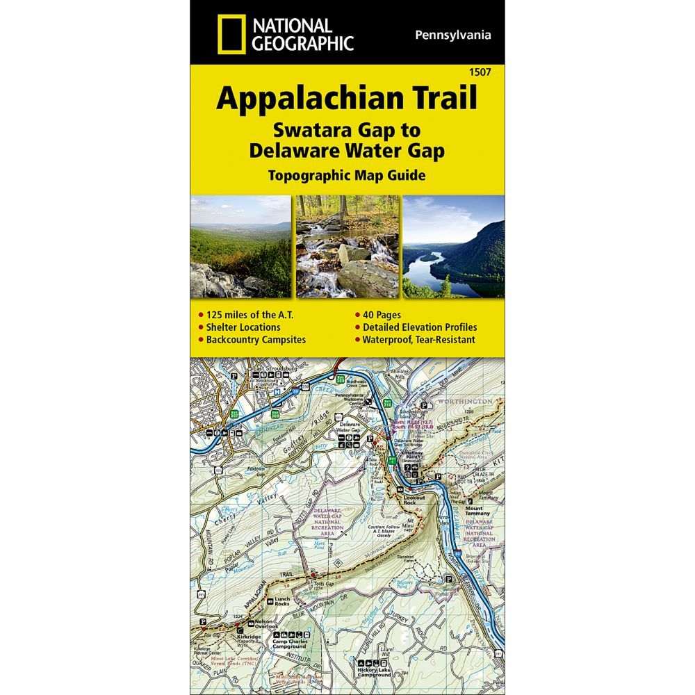 1507 Appalachian Trail, Swatara Gap to Delaware Water Gap (Pennsylvania) Trail Map