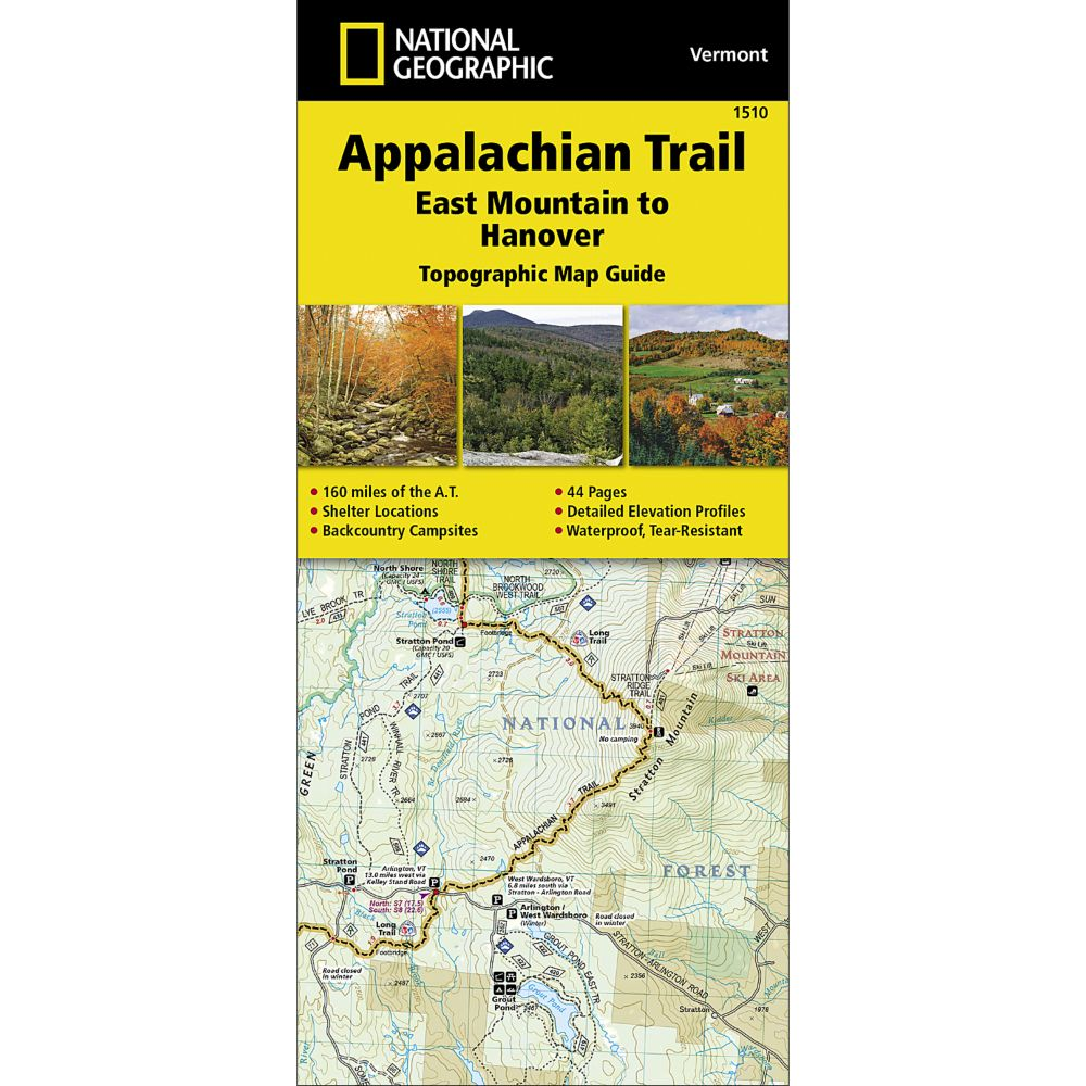 1510 Appalachian Trail, East Mountain to Hanover (Vermont) Trail Map
