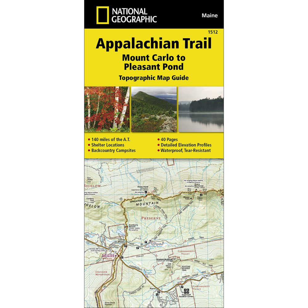 1512 Appalachian Trail, Mount Carlo to Pleasant Pond (Maine) Trail Map