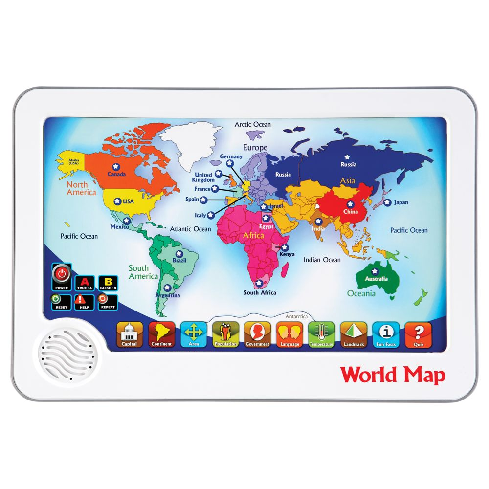 World Map Interactive Touch Pad Toy National Geographic Store