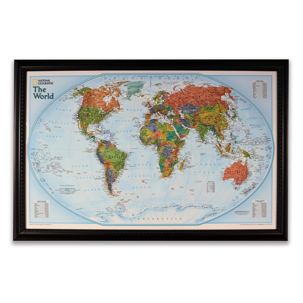 National Geographic ''Light Your Way'' Customizable World Map (Classic)