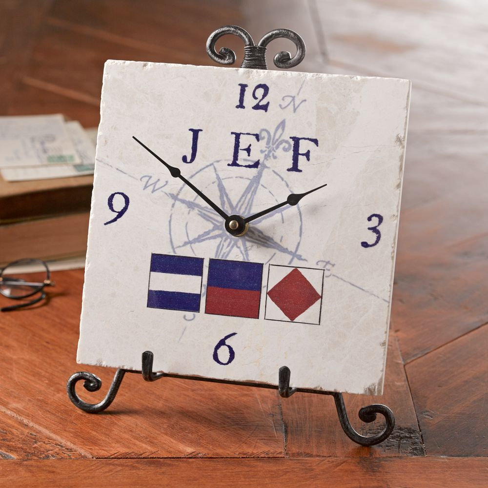 Personalized Nautical Flag Clock