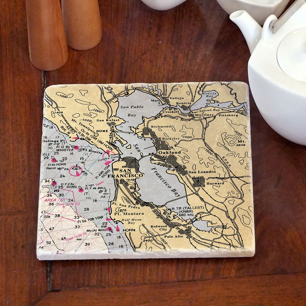 Nautical Chart Customized Trivet