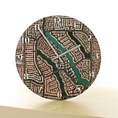 ''My Town'' Aerial Photo Clock - 12''