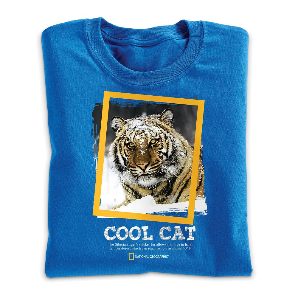 Cool Cat Tiger T-Shirt - Adult Sizes