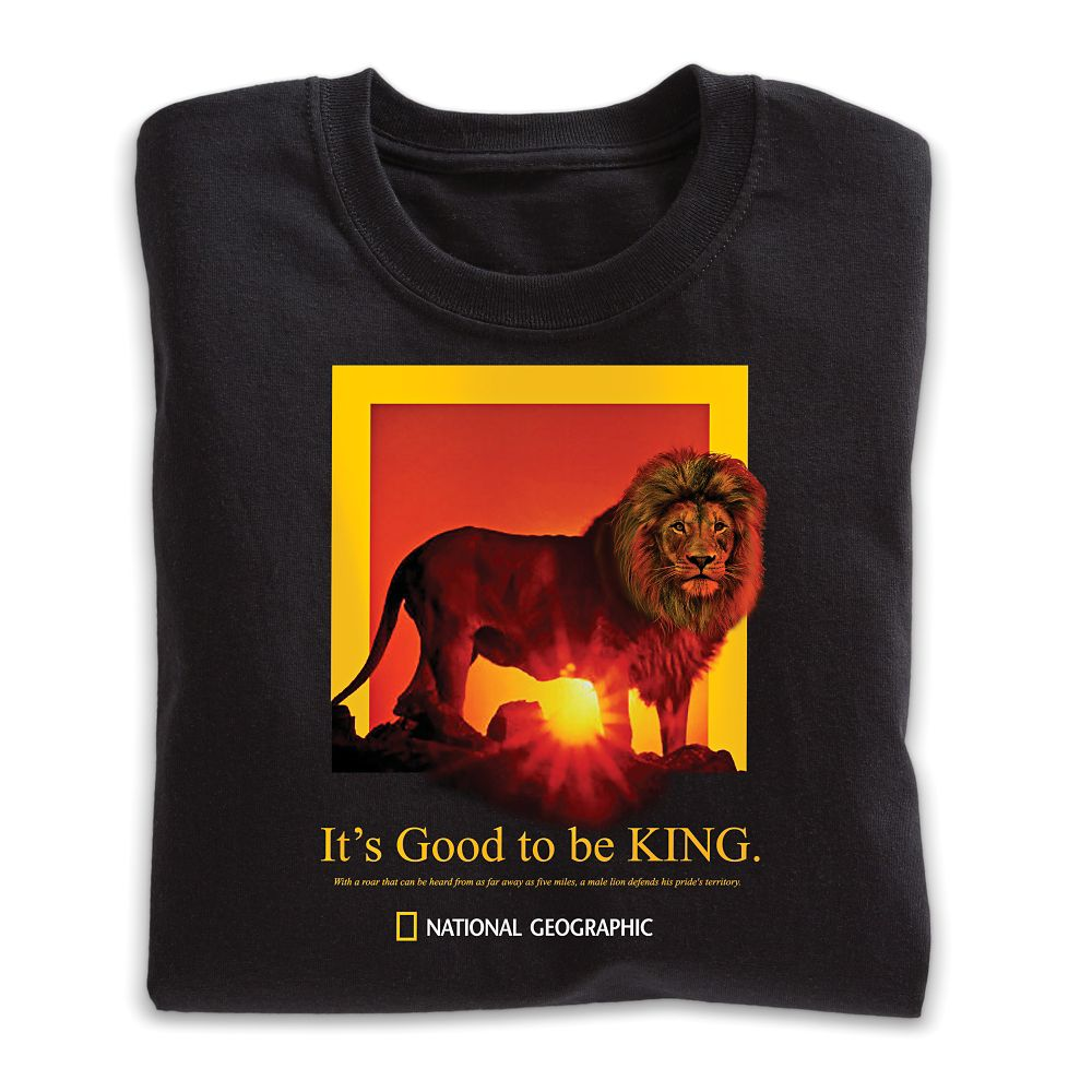 It's Good To Be King Lion T-Shirt - Adult Sizes