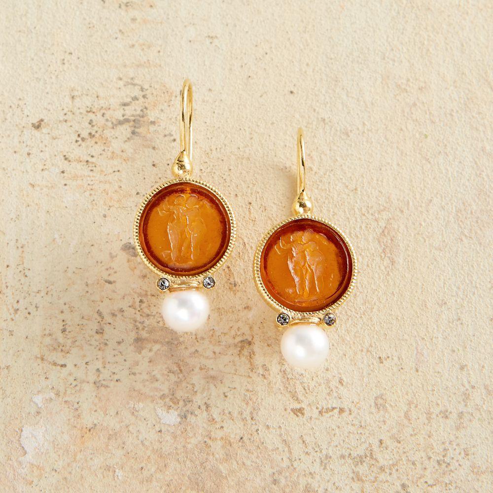 Fulani Earrings: Gold-plated Fulani Tribal Earrings
