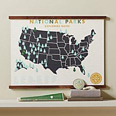 Track Your Adventures National Parks Framed  Map Set