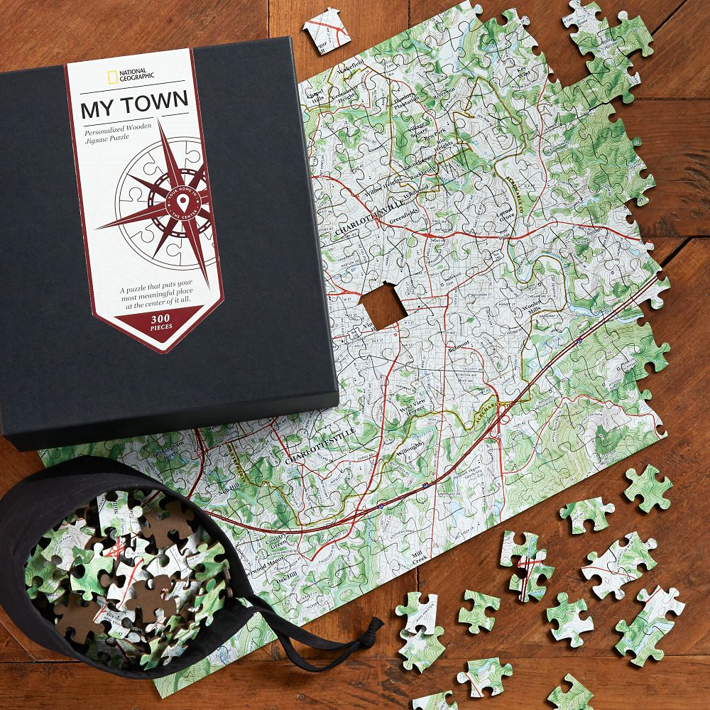 Nat Geo Keepsake Custom USGS Map Puzzle