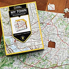Nat Geo ''My Town'' Custom USGS Map Puzzle