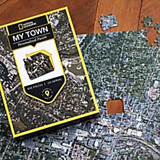 Nat Geo ''My Town'' Custom Aerial Map Puzzle
