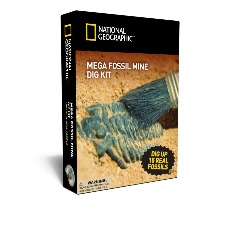 Nat Geo Mega Fossil Mine Dig Kit