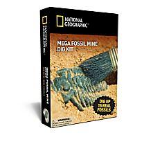 Nat Geo Mega Fossil Mine Dig Kit