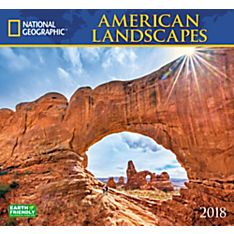2018 National Geographic American Landscapes Wall Calendar